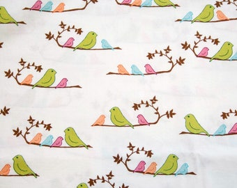 Birds On A Branch Cotton Fabric