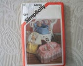 Vintage Doll Accessory Sewing Pattern Doll Bunting Doll Carrier Simplicity 6056