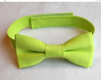 SALE Lime Green Bowtie - Infant, Toddler, Boys - 4 weeks BEFORE SHIPMENT