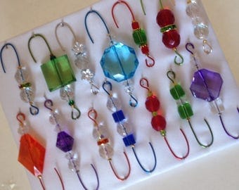 Only One Box Variety*12 - Beaded Ornament Hangers -  FREE SHIPPING