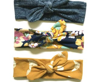 Set of 3 NEW FALL Headbands - Top Knot Headband - Baby, Toddler, Child - Headband Special