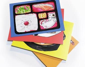 Japanese Cat Food Postcard Set