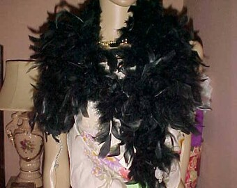 Vintage 60s Ranch MINK & Feather Flapper BOA Scarf with Tags and Provenance Silky Sexy Femininel