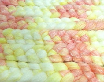 You Can Hear The Ocean / Handpainted SW Merino-Bamboo-Nylon Combed Top/ 4 oz.