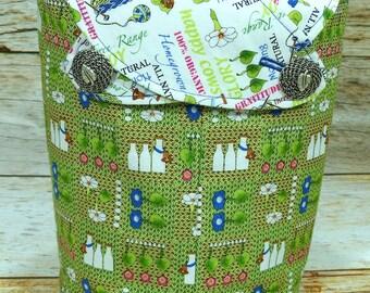 Morning Glory -Small Llayover Knitting Tote/ Knitting, Spinning, Crochet Bag