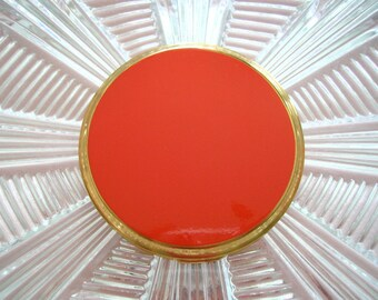 Vintage Mascot Compact, UNUSED, Red Powder Compact, Vanity Mirror, 1970s Cosmetics, Gift For Woman, Gifts For Her, Gift For Girlfriend