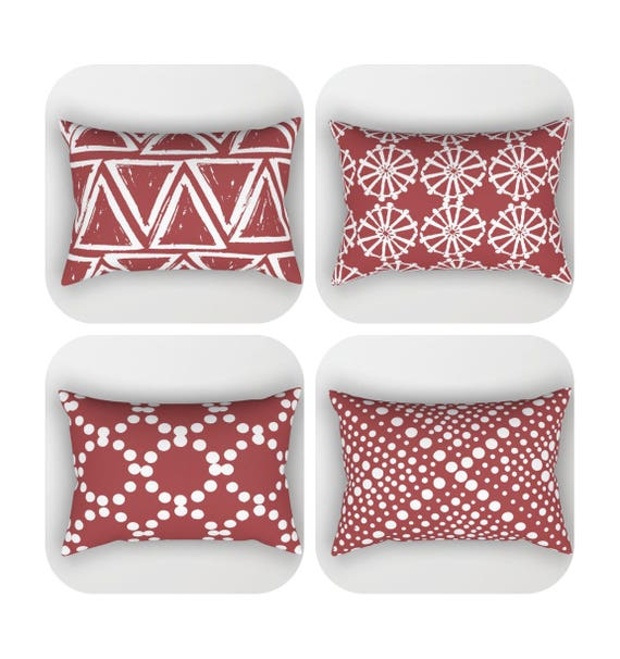Caliente Lumbar Pillow . Toddler Pillow . Geometric Pillow . Modern Cushion . Rectangular Pillow . Caliente Pillow . Travel Pillow 14 x 20