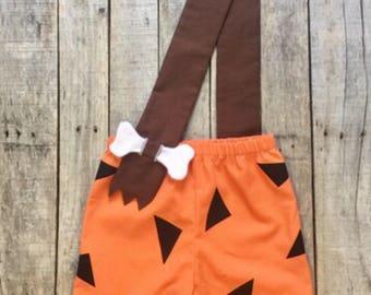 Bam Bam toddler Halloween Costume Flintstones Halloween Birthday