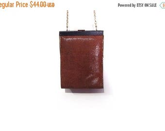 30% OFF Vintage 90s Inge Christopher Black & Brown Leather Soft Snakeskin Geometric Mini Shoulder purse vestiesteam gold chain strap prep mi