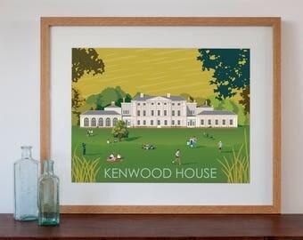 Kenwood House London Retro Style Art Print
