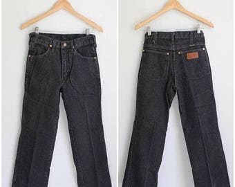 SPRING SALE Wrangler Jeans, High Rise Jeans, 90s Jeans, Mom Jeans, Womens Jeans Small, High Waisted Jeans, Black Denim, Tapered Tight Jeans