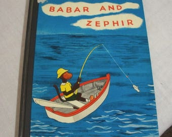 Vintage Babar & Zephir Childrens Book - Jean De Brunhoff