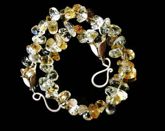 Yellow Gemstone Necklace Yellow Designer Necklace Citrine Nugget Necklace November Birthstone Sale