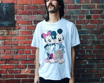 Vintage Mickey Mouse and Minnie Florida Double Sides Shirt XL