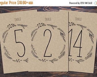 Wedding Table Numbers, Wedding Table Signs, Modern table numbers, printed table numbers