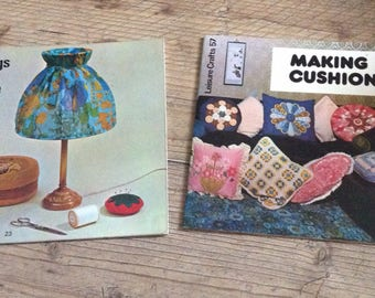 Vintage craft books, Vintage Sewing Books , Making things for the home and making Cushions books