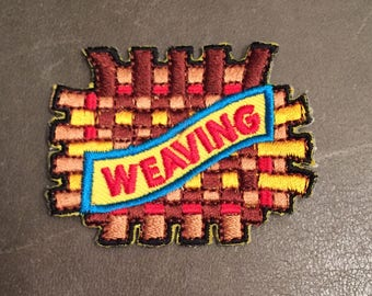 Weaving Merit Badge Arts & Crafts Lye Home Steading Adult Scout Patch