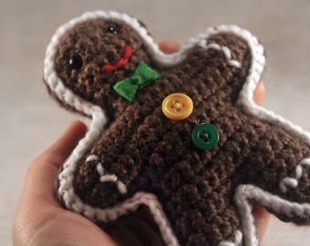 NEW Gingerbread Man - Crochet - Christmas Decoration