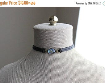 VACATION SALE- Dragon Scale Leather Choker and/or Bracelet