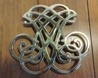Thomas Jefferson Vintage Brass Trivet Cipher Monticello