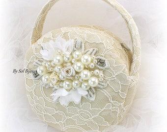 Wedding Lace Purse,Champagne Purse,Ivory Round Purse,Bridal Lace Purse,Wedding Handbag,Ivory Purse,Vintage Style,Elegant Purse,Gatsby Style