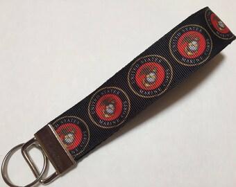 US Marine Corps Key Fob Keychain wristlet