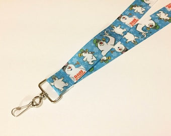 Frosty The Snowman ID Lanyard or clip to your cell phone or keys