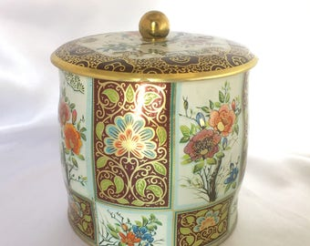 Vintage Daher England Decorative Floral Tin