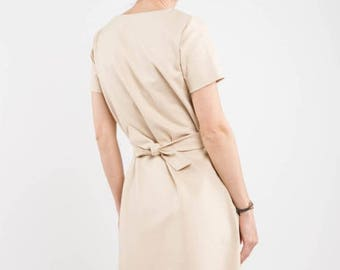 SALE - Short sleeve dress | Spring fashion | Sand dress | LeMuse short sleeve dress
