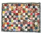 Antique Fabric Dollhouse Miniature Patchwork Quilt