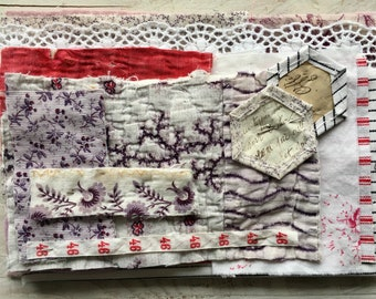Vintage patchwork, french fabrics, blanket, haberdashery - packet of possibilities, inspiration