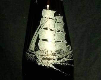 Sea Monster Wine Bottle