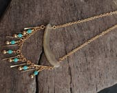 Chasing Dreams - Alaska Native muskox horn and bead necklace