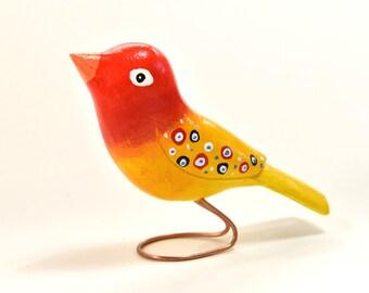 Women Gift Wooden Bird Wood Carvings Grandma Gift for Elderly, Wife Birthday Gift Home Decor, Animal Wood Sculpture