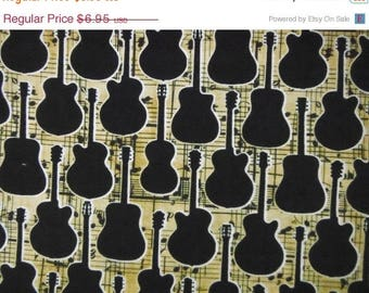 Guitar Fabrics--Hard Find --LAST piece--40-70% off Patterns n Books SALE