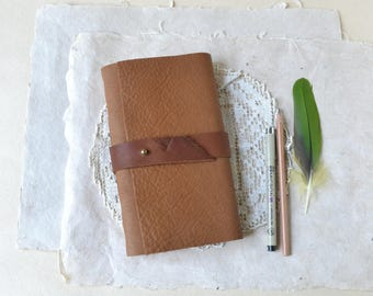 Rustic Leather Journal with Strap