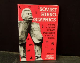 Paperback Book Soviet Union Stalin  - Soviet Hieroglyphics Nancy Condee Vintage Books - History 1995 Edition