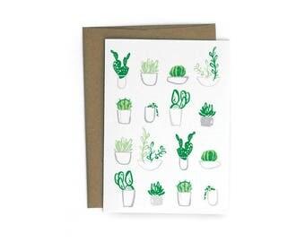 Succulents Single A6 Card