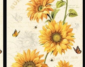 Sunflower Fabric Etsy