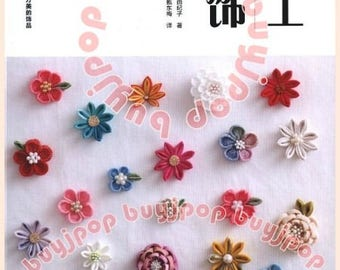 Chinese Edition  Japanese Craft Pattern Book Traditional Flower Tsumami Hair Pin Corsage Home Deco