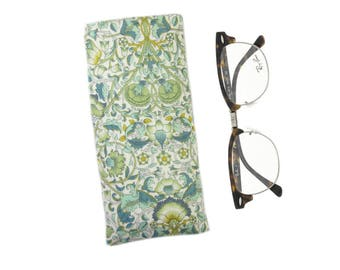 Soft Glasses Case, Floral Glasses Pouch, Glasses Case, Spectacle Holder, Sunglasses Pouch, Mothers Day Gift, Sunglasses Case, Sister Gift