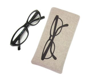 Glasses Case, Spectacles Case, Soft Glasses Pouch, Sister Birthday Gift, Reading Glasses Case, Personalised Mothers Day Gift
