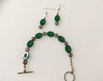 Sister Earth Green glass earrings