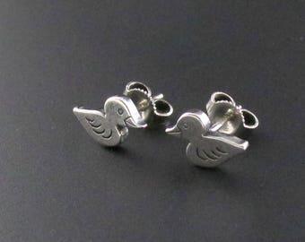 James Avery Duck Earrings, Sterling Silver Earrings, Small Earrings, Duck Earrings, James Avery Earrings, Bird Earrings, Girls Earrings