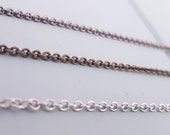Replacement Chain Necklaces - 2mm Soldered Link - 16 to 32 Inches - Gunmetal - Antique Burnished Bronze - Silver Stainless Steel