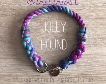 Galaxy Rope Dog Collar / dog collar / rope collar / collar / galaxy dog collar / pattern dog collar / matching collar lead / pet supplies