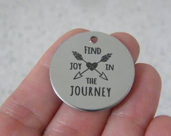 1  Find joy in the journey stainless steel pendant JS2-34