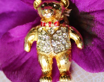 Vintage Teddy Bear Brooch