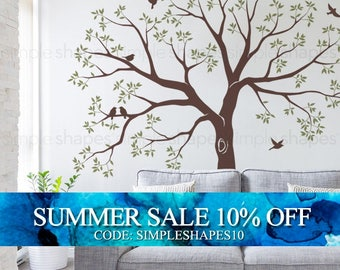 Organic Giant Family Tree Wall Decal, Staircase Family Tree Wall Decal, Tree Wall Decal Sticker, Baby Nursery Tree Wall Decal