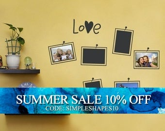 Picture and Photo Frame Layout Decal - Photo Love - Vinyl Wall Sticker